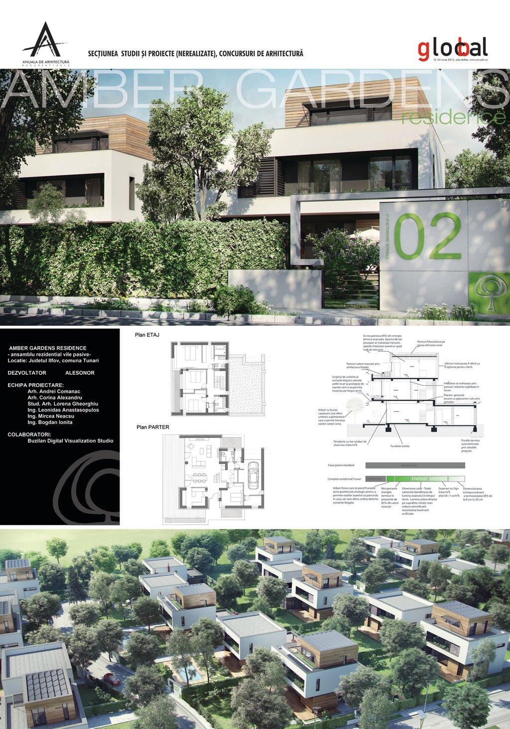 Amber Gardens   Ansamblu Rezidenţial Vile Pasive   Com. Tunari, Jud. Ilfov